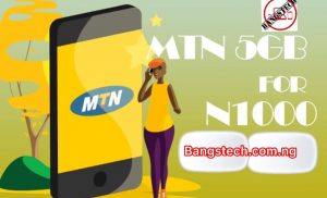 MTN 5GB For N1000 {100% Legit Working}